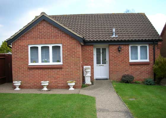 The Tookey family's retirement bungalow in Northampton, built in 1988/89