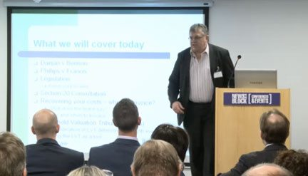 Jeff Platt, of the IRPM, addressing a leasehold sector event