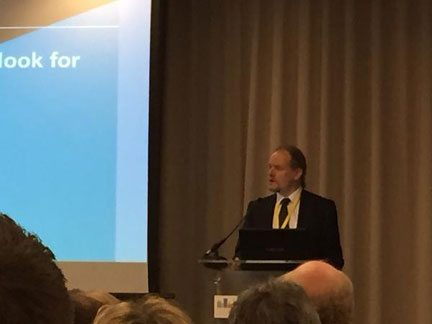Martin Perry, chairman of ARMA, addressing the LEASE annual conference 2015