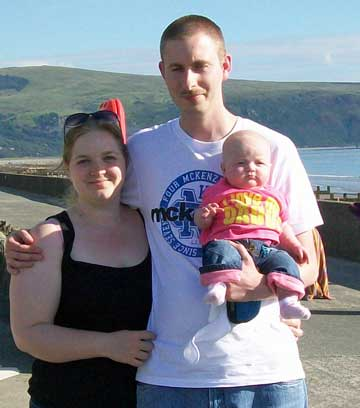 Sarah and Chris Cherry, with daughter Aimee, have ground rent demands of £1,000 a year