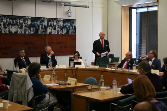 Nigel Glen, CEO of the trade body ARMA, addresses the LKP Westminster round table on commonhold last week