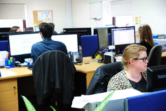 The FirstPort accounts department in action. The company is the largest property manager in the UK