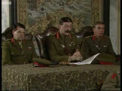 Even Sir Anthony Hogmany Melchett had three officers on his court martial of Captain Blackadder, a point lost on the RICS disciplinary panel