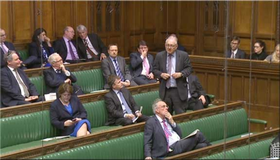 Sir Peter Bottomley, speaking out for leaseholders in the Commons this afternoon