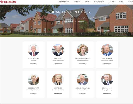 Redrow says it welcomes the All Party Parliamentary Group on leasehold reform and 'looks forward to its recommendations'